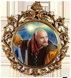 Arkadias ansikte i en barock ram