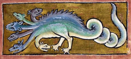 Hydra Bestiary, Bestiary England, Xix Fol, 1210 British, British Library