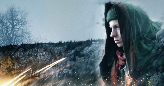 Caligari tittar ut över ett vinterlandskap