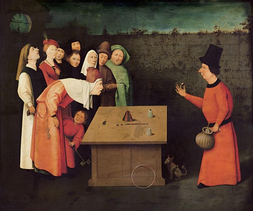 """Målningen """"The Conjuror"""" av Bosch, Hieronymus"""