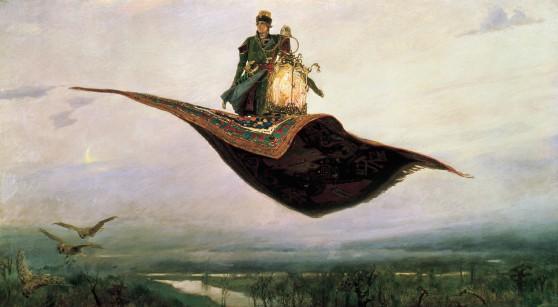 """Målning av Vasnetsov Viktor Mikhailovich """"Flying Carpet"""" 1880"""