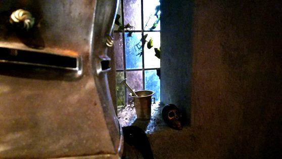 Ett fönster över sjön vid Gastons slott