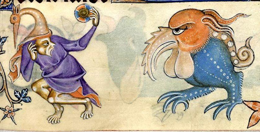En ilsk pyssling och hans fågel