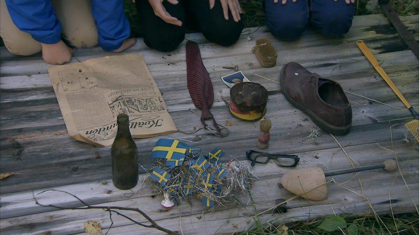 Mystiska prylar hittade i ett spökhus