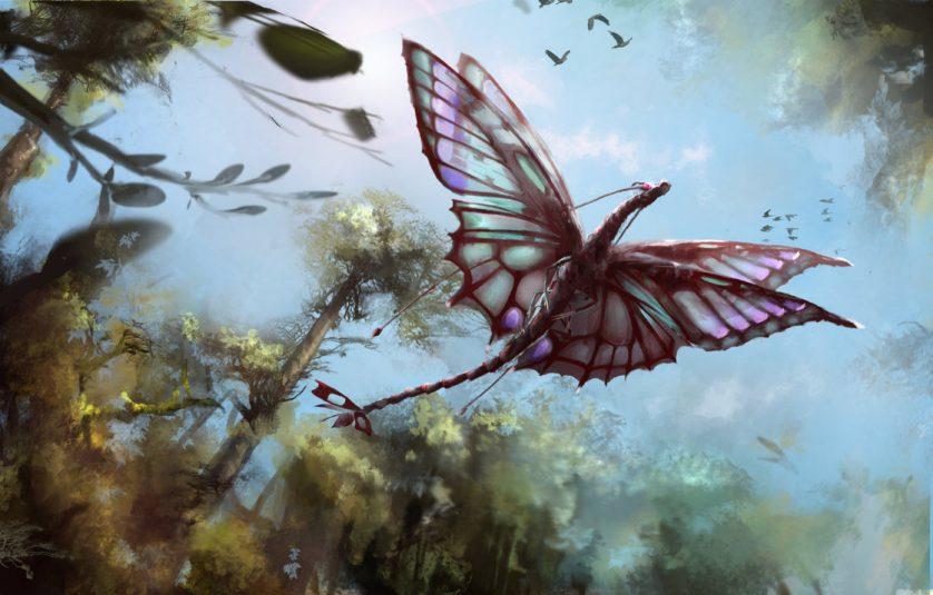 Drakfjäril ritad av Stargazerrjl